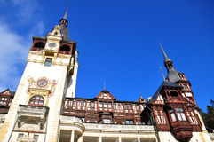 Peles Castle facade Royalty Free Stock Images