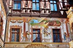 Free Peles Castle Fresco In Romania Royalty Free Stock Image - 69738296