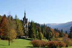 Travel Romania: Peles Castle  Royalty Free Stock Photos