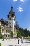 Peles castle garden stock images