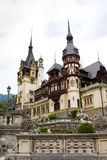 Peles Castle I. Wiew from Peles Castle, Sinaia,  kingdom residence in Romania Royalty Free Stock Photos