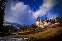 Peles Castle In The Carpathians Mountains, Romania. Stock Photo