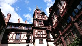 Peles castle - interior courtyard Royalty Free Stock Photos