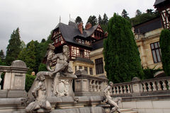 Peles castle monument Royalty Free Stock Image