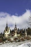 Peles castle. The must famus castle in Romania Royalty Free Stock Photo