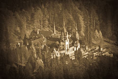 Peles Castle - retro I Royalty Free Stock Images