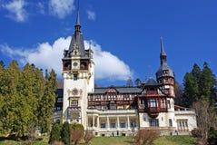 Peles Castle in Romania Royalty Free Stock Photos