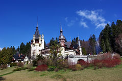 Peles Castle, Romania. The building of the castle began in 1873 under the direct order of the Viennese architect Wilhem Doderer and was continued in 1876 by his Royalty Free Stock Image