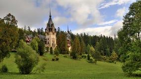peles castle, romania stock photography