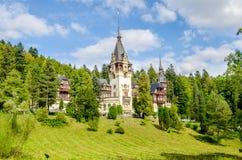 Peles Castle in Romania on a beautiful sunny day Stock Photo
