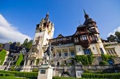 Peles castle in Romania Stock Photo