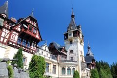 Peles castle, Romania Royalty Free Stock Image