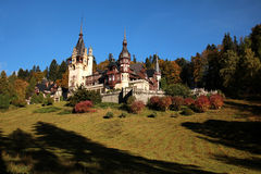 Peles Castle - Romania. Peleș Castle is a Neo-Renaissance castle in the Carpathian Mountains, near Sinaia, in Prahova County, Romania. Its inauguration was held royalty free stock image
