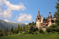 Peles Castle - Romania. Peleș Castle is a Neo-Renaissance castle in the Carpathian Mountains, near Sinaia, in Prahova County, Romania. Its inauguration was held stock image