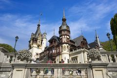 Peles castle in Romania Stock Images