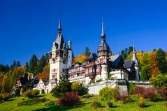 Peles Castle, Romania. Sinaia, Romania. Peles Castle, romanian kings summer residence in Carpathian Mountains Royalty Free Stock Photo