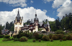 Peles castle in Romania Royalty Free Stock Photo