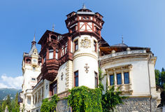 Peles Castle (Romania). Peles Castle summer view (Romania). Built between 1873 and 1914 Royalty Free Stock Image