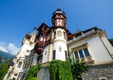 Peles Castle (Romania). Peles Castle summer view (near Sinaia, Romania). Built between 1873 and 1914. Architect Johannes Schultz Stock Photography