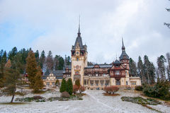 Peles castle in Romania Royalty Free Stock Photography