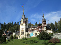 Peles Castle from Sinaia resort in Romania Stock Image