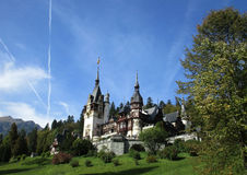 Peles Castle from Sinaia resort in Romania Stock Photography