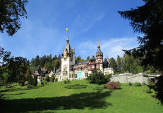 Peles Castle from Sinaia resort in Romania Royalty Free Stock Image