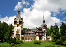 Peles Castle in Sinaia, Romania royalty free stock photography