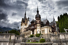 Peles castle,Sinaia,Romania. Beautiful royal Peles castle,Sinaia,Romania royalty free stock photography