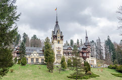 The Peles Castle from Sinaia Romania, Carpathian Mountains Royalty Free Stock Images