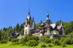 Peles castle, Sinaia, Romania Royalty Free Stock Photography