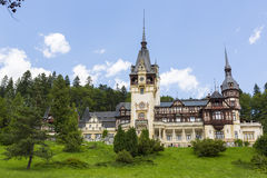Peles castle, Sinaia, Romania stock photo