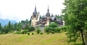 Peles castle in Sinaia, Romania Royalty Free Stock Photos