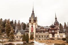 Peles castle in Sinaia, Romania Stock Photos