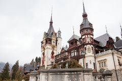 Peles Castle from Sinaia, Romania Royalty Free Stock Photo