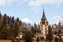 Peles Castle from Sinaia, Romania Stock Image