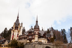 Peles Castle from Sinaia, Romania Royalty Free Stock Photos