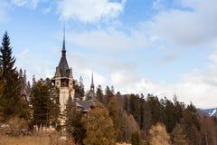 Peles Castle from Sinaia, Romania Stock Image