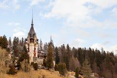 Peles Castle from Sinaia, Romania Stock Photo