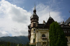 Peles castle. In Sinaia Romania,near to the mountains Stock Images