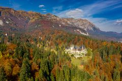 Peles Castle, Sinaia, Romania. Summer residence of the kings of Romania royalty free stock images