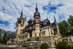 Peles Castle. Sinaia, Romania, Transylvania Stock Photos