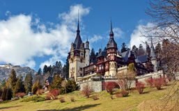 Peles Castle. In Sinaia village, Romania Stock Photography