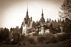 Peles Castle from Sinaia Stock Photos