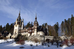 Peles Castle situated in Sinaia, Roman. Peles Castle situated in the Carpathian Mountains, Sinaia, Romania royalty free stock image