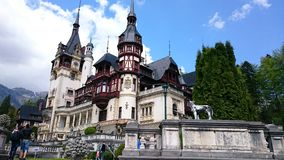 Peles castle, summer residence of the royal family of Romania Royalty Free Stock Image