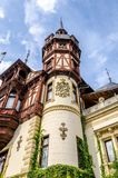 Peles Castle tower in Romania Royalty Free Stock Photo