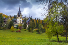 Peles castle in transylvania Royalty Free Stock Photography