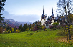 peles castle in transylvania, romania Royalty Free Stock Photo
