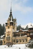 Peles castle in winter Royalty Free Stock Images